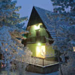 Green House Divcibare Zimi Nocu Pada Sneg